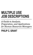 Multiple Use Job Descriptions