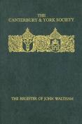 Register of John Waltham, Bishop of Salisbury 1388-1395