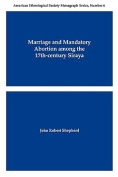 Marriage and Mandatory Abortion Among the 17th-Century Siraya