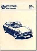 MGB, Tourer & GT Sept. 1976 on Parts Catalogue