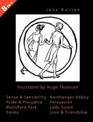 ILLUSTRATED Jane Austen - 8 Books In 1. Illustrated by Hugh Thomson. Sense & Sensibility, Pride & Prejudice, Mansfield Park, Emma, Northanger Abbey, Persuasion, Lady Susan, and Love & Friendship.
