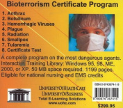 Bioterrorism Certificate Program [Audio]