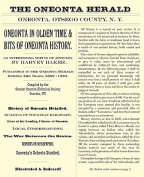 Oneonta in Olden Time & Bits of Oneonta History  : An Interesting Series of Articles by Harvey Baker, Published in the Oneonta Herald During the Years 1