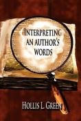 Interpertiing An Author's Words