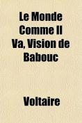 Le Monde Comme Il Va, Vision de Babouc