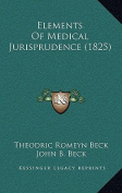 Elements of Medical Jurisprudence
