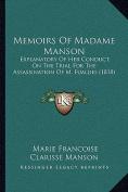 Memoirs of Madame Manson