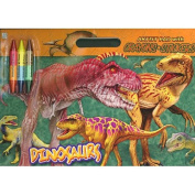 Dinosaurs Artist Pad [With StickersWith 3 Double-Sided Crayons]