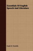 Essentials of English Speech and Literature
