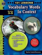 Vocabulary Words in Context, Grades 3-5