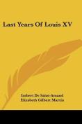 Last Years of Louis XV
