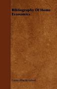 Bibliography of Home Economics
