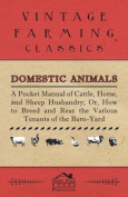 Domestic Animals - A Pocket Manual Of Cattle, Horse, And Sheep Husbandry, Or How To Breed And Rear The Various Tenants Of The Barn-Yard