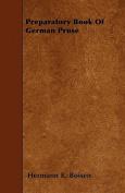 Preparatory Book of German Prose
