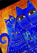 Smythe Sewn Fantastic Felines Mediterranean Cats Lined Mini Wrap