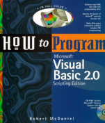 How to Program Microsoft Visual Basic 2.0 with CDROM