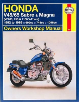 Honda V45/65 Sabre and Magna (VF700, 750 and 1100 V-Fours): Owners Workshop Manual (Haynes Owners Workshop Manuals)