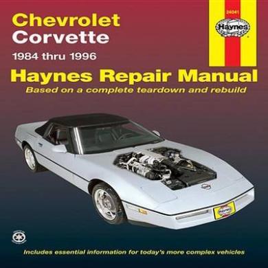 Chevrolet Corvette (1984-1996) Automotive Repair Manual (Haynes Automotive Repair Manuals)