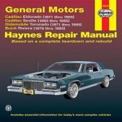 GM Eldorado and Seville, Oldsmobile Toronado, Buick Riviera Automotive Repair Manual