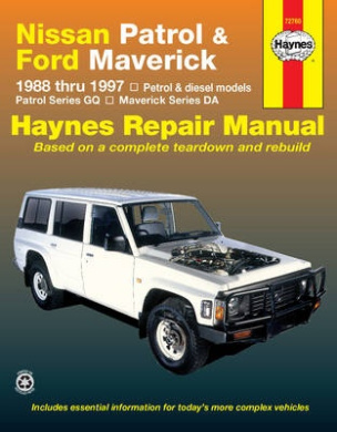 fits Nissan Patrol and Ford Maverick Australian Automotive Repair Manual: 1988-1997 (Haynes Automotive Repair Manuals)