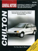 General Motors Chevrolet Sprint and Metro, Geo Metro/Suzuki Swift Repair Manual
