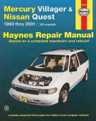 Mercury Villager and fits Nissan Quest Automotive Repair Manual