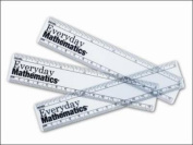 Everyday Mathematics, Grades 1-3, Rulers, 6 inch/15 centimeters (Package of 10)