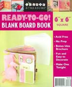 """Ready-To-Go Blank Board Book White 6"""" X 6"""" Square (Create & Treasure"""