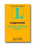 German Langenscheidt Universal Dictionary