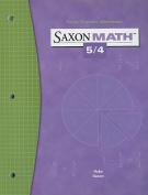 Saxon Math 5/4 Facts Practice Workbook