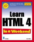 Learn HTML 4 in a Weekend