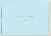 Thank You Notes Blue Elegance