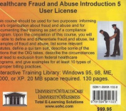 Healthcare Fraud and Abuse Introduction, 5 Users [Audio]