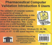 Pharmaceutical Computer Validation Introduction, 5 Users