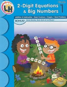 2-Digit Equations & Big Numbers, Grade 1 [With Certificate and Gameboard and Bookmark]