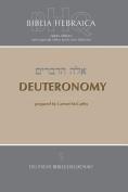 Biblia Hebraica Quinta Deuteronomy