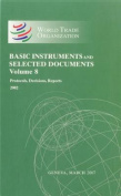 Wto Basic Instruments & Selected Documents  : Volume 8