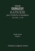 Rapsodie Pour Orchestre Et Saxophone, CD 104 - Study Score