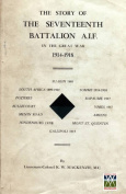Story of the Seventeenth Battalion Aif in the Great War, 1914-1918