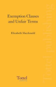 Exemption Clauses and Unfair Terms