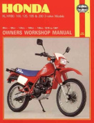 Honda XL/XR80, 100, 125, 185 and 200 2 Valve Models, 1978-87 Owner's Workshop Manual