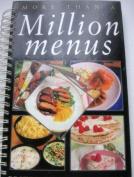 More Than a Million Menus