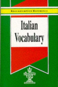 Italian Vocabulary (Brockhampton Reference Series