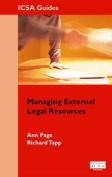 Managing External Legal Resources