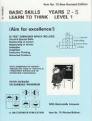 Basic Skills - Learn to Think - Level 1 (Sky Blue/Black/White)