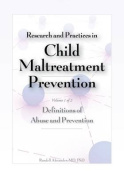 Research and Practices in Child Maltreatment Prevention, Volume One