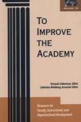 To Improve the Academy