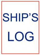 Large Ship's Log Book