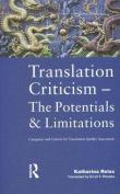 Translation Criticism- Potentials and Limitations