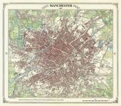Manchester 1845 Map